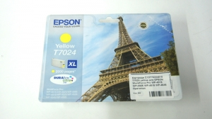 Картридж C13T70224010 T7024 yellow для EPSON WorkForce Pro WP-4015 WP-4025 WP-4515 WP-4545 Оригинал