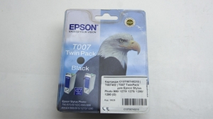 Картридж C13T00740210 | T007402 | T007 TwinPack черный для Epson Stylus Photo 900/ 1270/ 1275/ 1280/ 1290 (О)